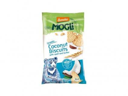Bio Mini sušenky medvídek máslové s kokosem bez cukru 50g Mogli