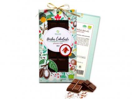 Bio čokoláda s chilli - hořká 80g Naturalis