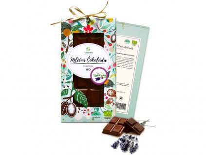 Bio čokoláda s levandulí - mléčná 80g Naturalis
