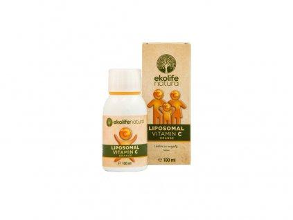 Lipozomální vitamín C, pomeranč, kapky 100ml Ekolife natura