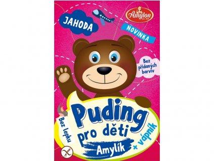 Puding jahodový pro děti 40g - bez lepku Amylon
