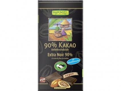 Bio Hořká čokoláda 90% s kokosovým cukrem 80g Rapunzel