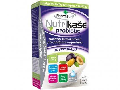 Nutrikaše probiotic se švestkami 180g (3x60g) PharmaLINE