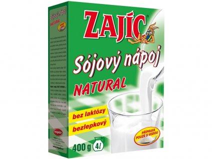 Sójový nápoj Zajíc natural 400g Mogador