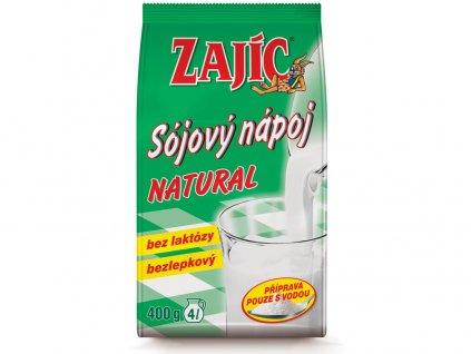 Sójový nápoj Zajíc natural 400g sáček Mogador