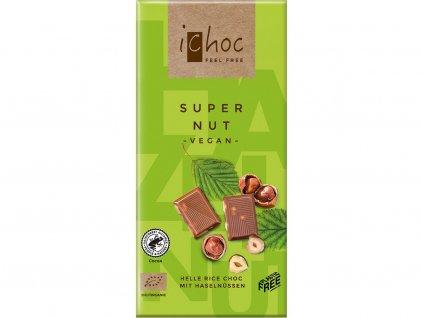 Bio čokoláda s oříšky iChoc 80 g Ichock