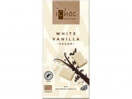 Bio bílá čokoláda s vanilkou iChoc 80 g Ichock