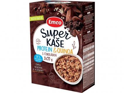 Super kaše Protein & quinoa s čokoládou 3x55g Emco