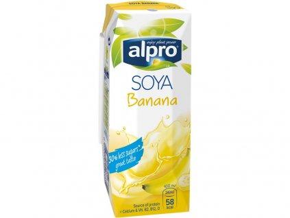 Sójový nápoj banán 250ml Alpro