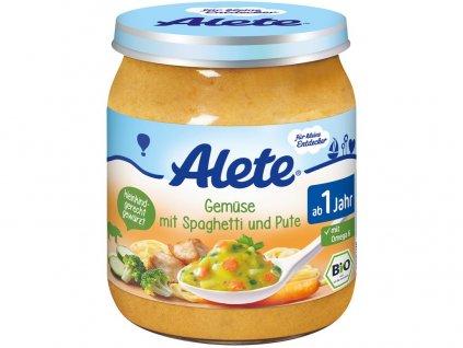 Bio příkrm - zelenina se špagetami a krůtím masem 250g Allete
