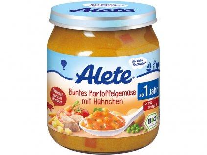 Bio příkrm - zelenina s bramborem a kuřecím masem 250g Allete