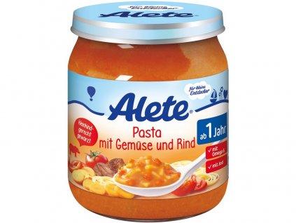 Příkrm - těstoviny se zeleninou a hovězím masem 250g Allete