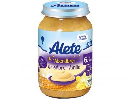 Bio kaše večerní semolinová s vanilkovou příchutí 190g Allete