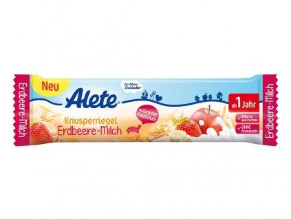 Tyčinka - jahodovo-mléčná 25g Allete