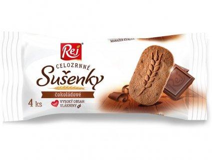 Sušenky klasy celozrnné čokoládové 34g Rej