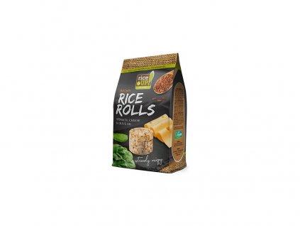 Rýžové minichlebíčky sýr a špenát 50g Rej