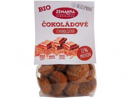Bio čokoládové hrudky s čer. čočkou bezlepkové 100g Biopekárna Zemanka