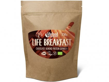 Bio Life breakfast Granola čokoládová s mandlemi 230g Lifefood