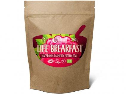 Bio Life breakfast Kaše malinovo-makadamiová 240g Lifefood