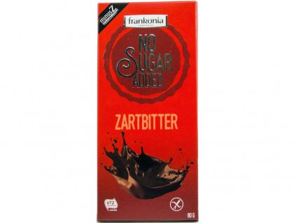 Hořká čokoláda bez přidaného cukru 80g Frankonia