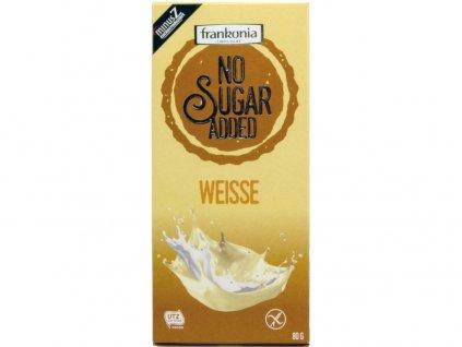 Bílá čokoláda bez přidaného cukru 80g Frankonia