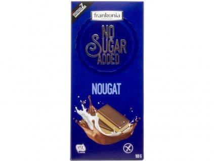 Nugátová čokoláda bez přidaného cukru 100g Frankonia