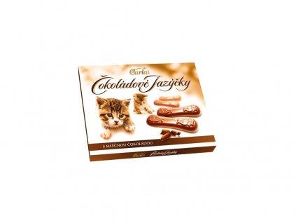 Čokoládové jazýčky mléčné 100g Carla