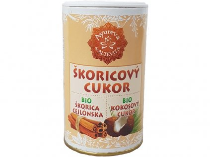 Bio kokosový cukr skořicový - cukřenka 100g Altevita
