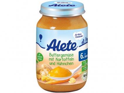 Bio příkrm - mrkev s bramborem a kuřecím masem 190g Allete