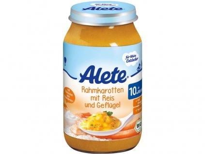 Bio příkrm - mrkev na smetaně s rýží a krůtím masem 220g Allete