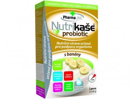 Nutrikaše probiotic s banány 180g (3x60g) PharmaLINE