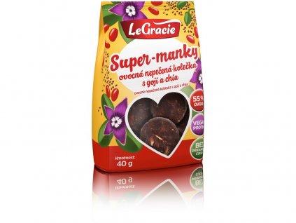 Ovocné nepečené sušenky Super-manky 40g LeGracie