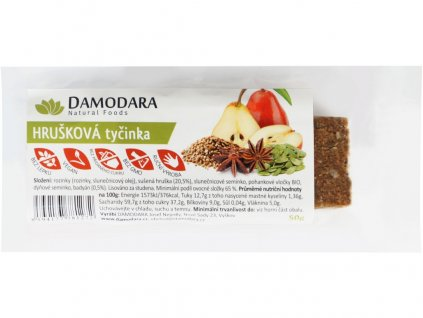 Ovocná tyčinka hrušková s badyánem 50g Damodara