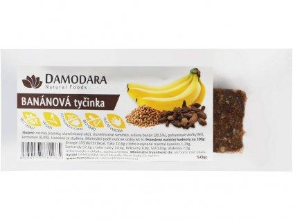 Ovocná tyčinka banánová s kardamonem 50g Damodara