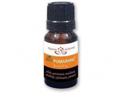 Bio esenciální olej 100% - Pomeranč 10ml Altevita