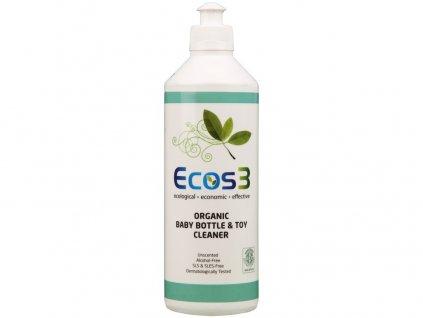 Ekologický čistič hraček, dětských lahví, nádobí 500 ml ECOS3