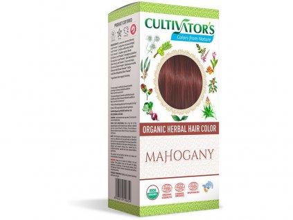 Bio přírodní barva na vlasy 100% 16 - Mahagonová 100g Cultivator