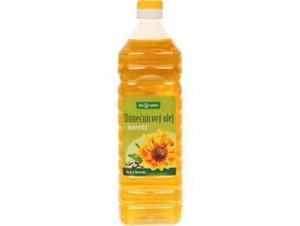 Bio olej slunečnicový lisovaný za studena 1l plast Bio nebio