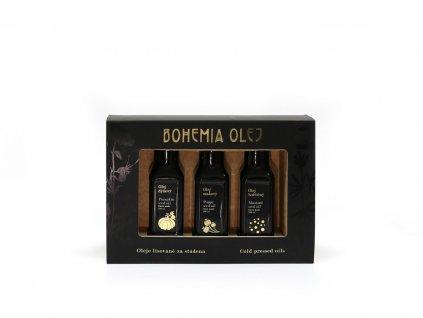 Dárkový set (hořčičný, makový, dýňový olej) 3x100ml Bohemia olej