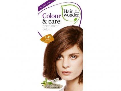 Přírodní dlouhotrvající barva měděný mahagon 6.45 100ml Hair Wonder