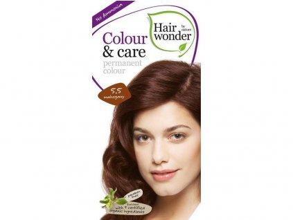 Přírodní dlouhotrvající barva mahagon 5.5 100ml Hair Wonder