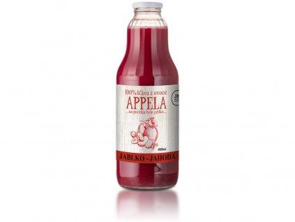 Jablko - jahoda 1 l - 100% přírodní šťáva Appela