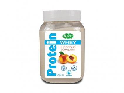 AKCE - Whey protein s příchutí broskev 200 g, min. trv. 30.4.2020 4Slim