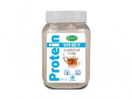 AKCE - Whey protein s příchutí cola 200 g, min. trv. 30.4.2020 4Slim