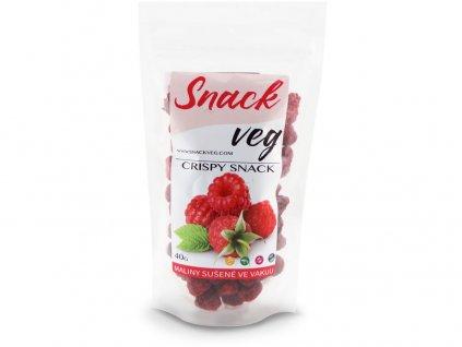 Zdravé ovoce - lyofilizované maliny 40g Heathy Snack