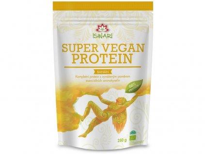 Bio super vegan protein banán 250g Iswari