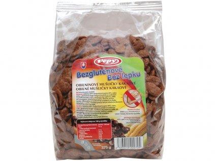 Mušličky obil. kakaové bezlepkové 375g Vepy