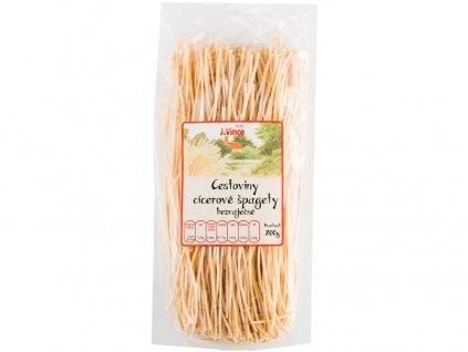 Těstoviny cizrnové bezvaječné špagety 200g Vince