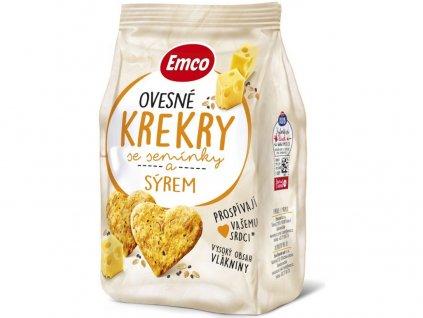 Ovesné krekry se sýrem 100g Emco