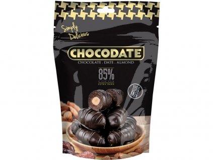 Datle s mandlí v extra hořké čokoládě 100g Chocodate
